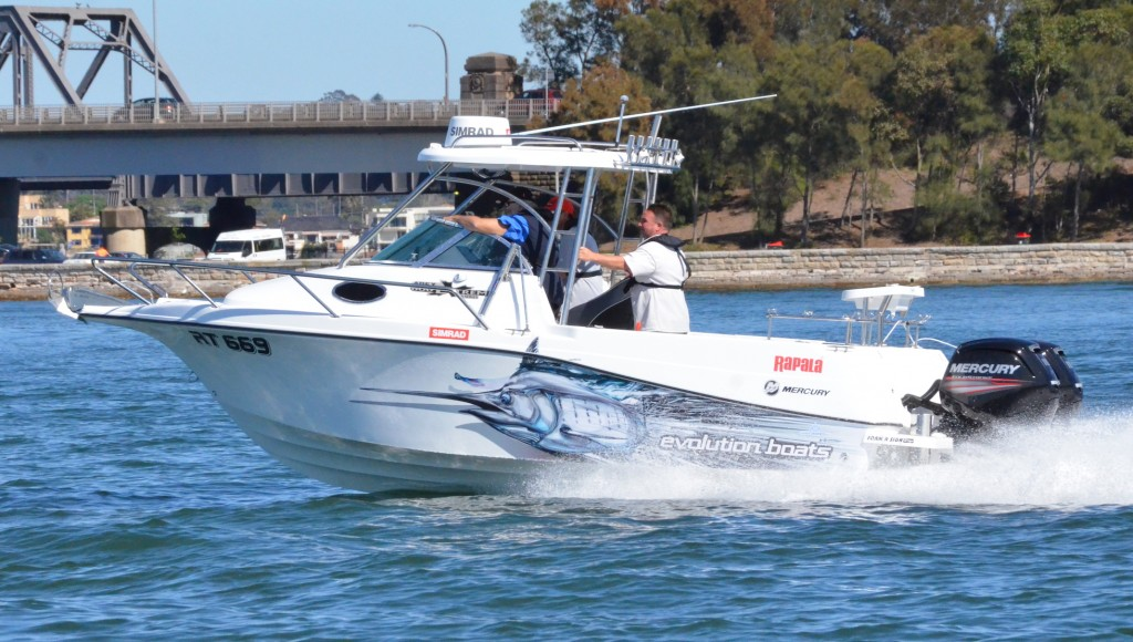 The Evolution 600 Extreme equipped with twin 155CT FourStrokes