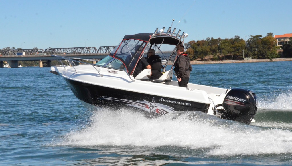 The Haines Hunter 565R and the Mercury 150 Four Stroke were the perfect match